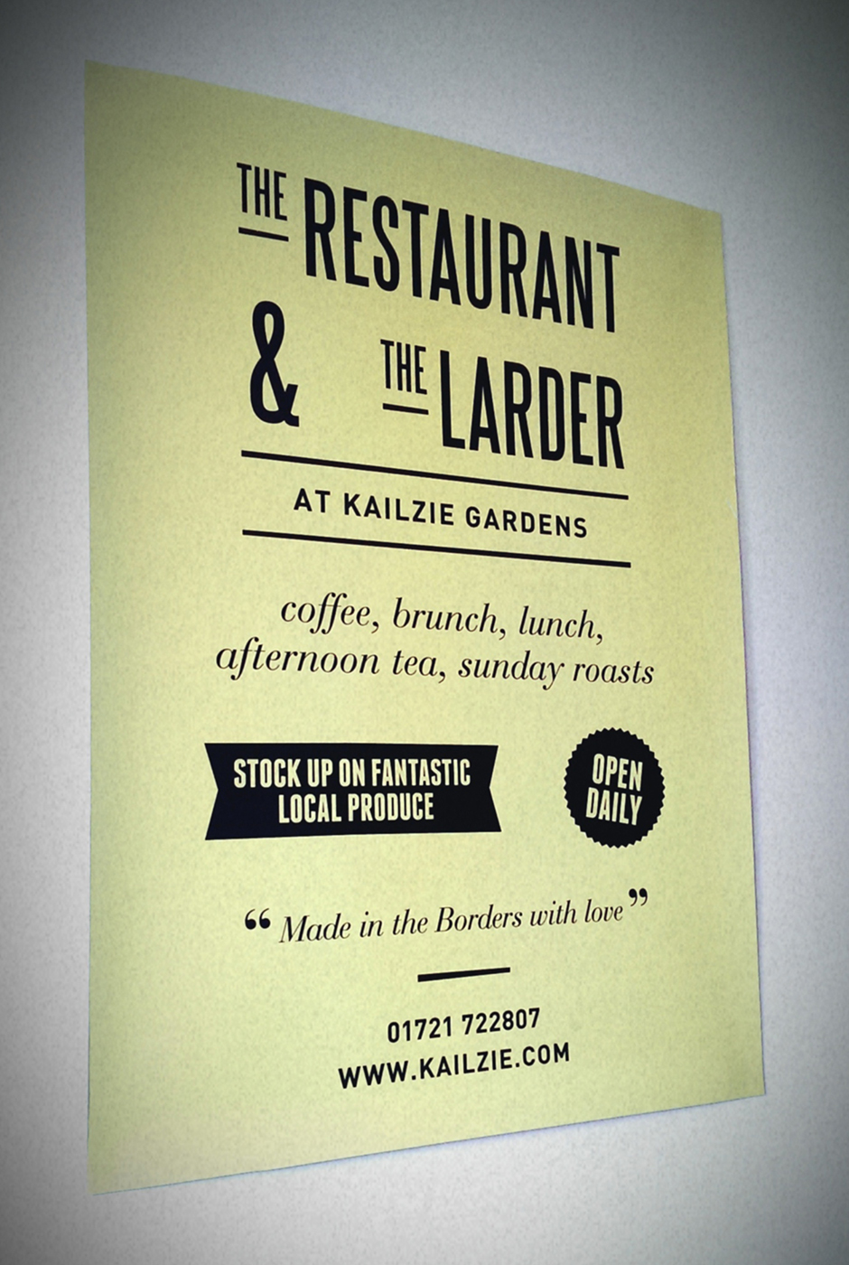 The Restaurant & The Larder - A2 poster design