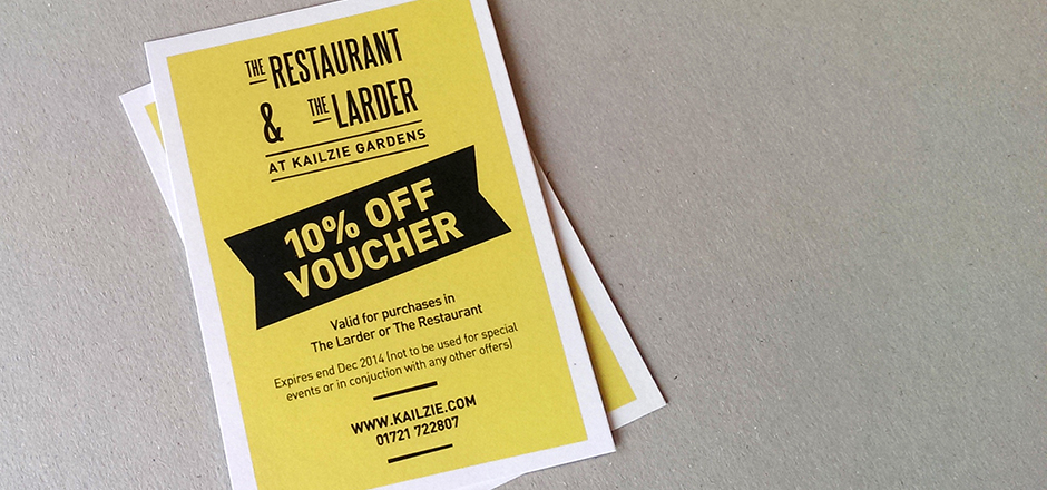 The Restaurant & The Larder - discount voucher