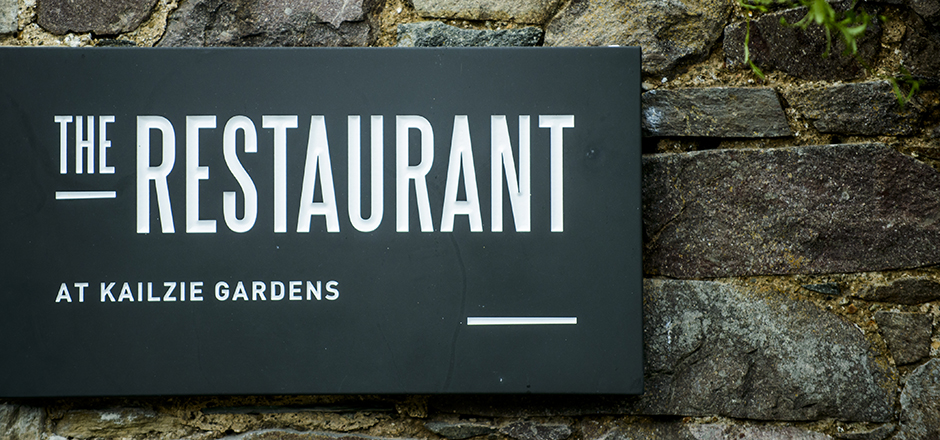 The Restaurant - slate sign design(Photography by www.marcmillarphotography.com)