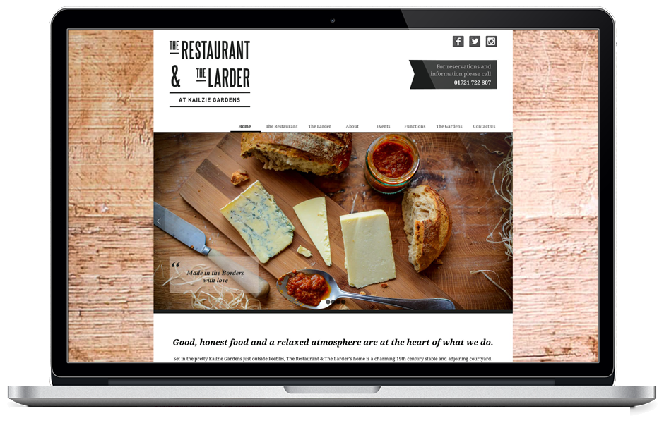 The Restaurant & The Larder - website