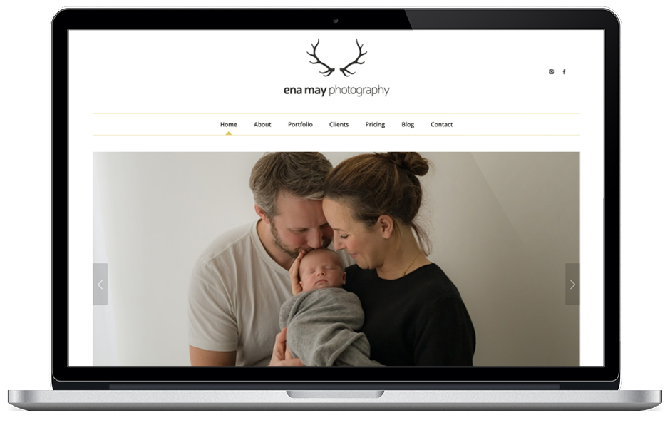 Ena May Photography website