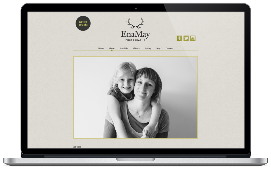 EnaMay Photography website