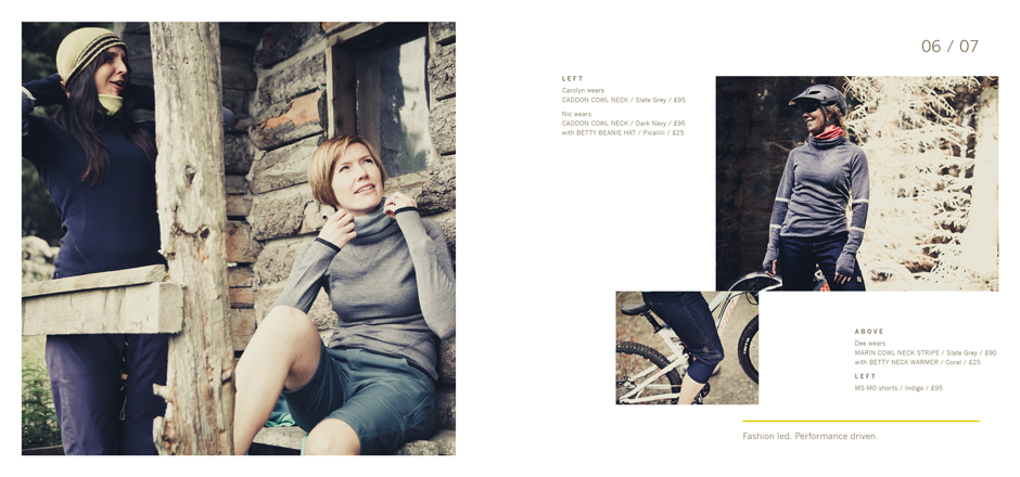 Spread from FINDRA look book
